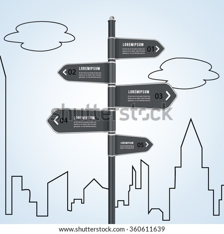 Sign street concept infographic. - stock vector