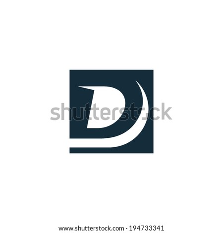 Sign the letter D Branding Identity Corporate vector logo design template Isolated on a white background - stock vector