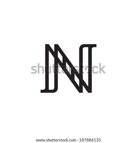 Sign the letter N Branding Identity Corporate vector logo design template Isolated on a white background - stock vector