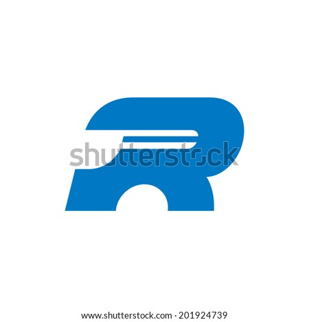 Sign the letter R Branding Identity Corporate vector logo design template Isolated on a white background