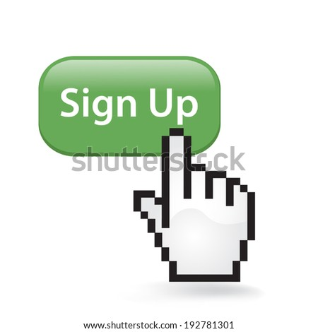 Sign Up Button - stock vector
