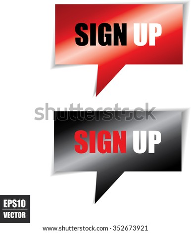 Sign Speech Bubbles Square Template Business Stock Vector 352673921