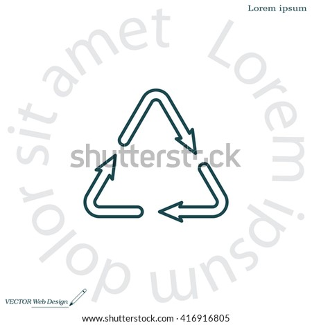 sign waste processing, web line icon. vector design
