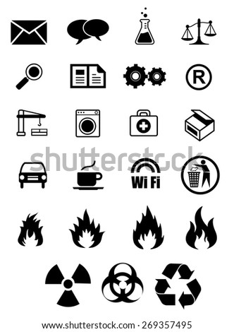 Signage vector icons collection - stock vector