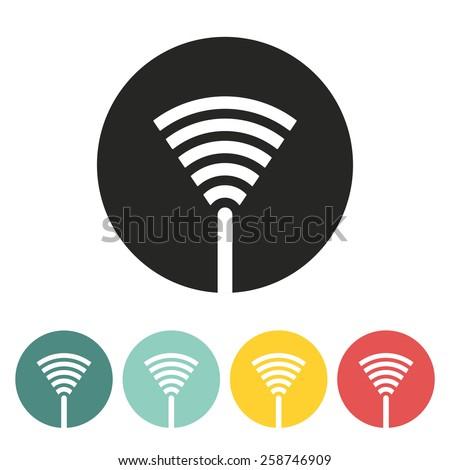 signal antenna.vector illustration. - stock vector