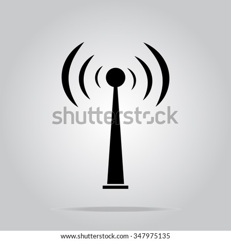 Signal sign icon, wifi sign vector illustration