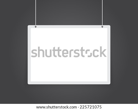 signboard - stock vector