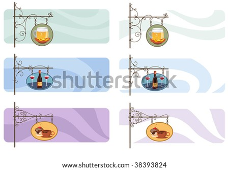 signboard banners set - stock vector