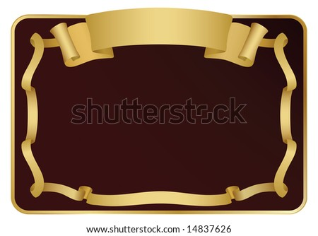 Signboard with ribbon. Vector Illustration. - stock vector