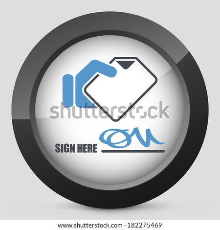 Signing up for receipt document - stock vector
