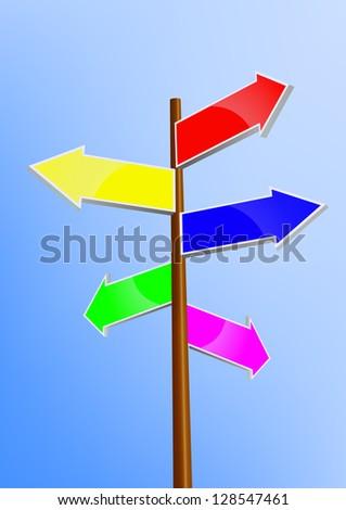 signpost - stock vector