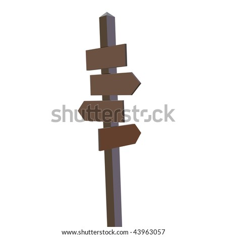 signpost direction indicator - stock vector