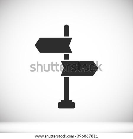 Signpost Icon - stock vector