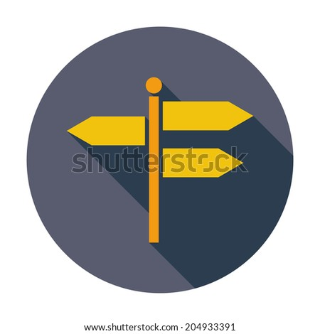 Signpost. Single flat color icon. Vector illustration. - stock vector