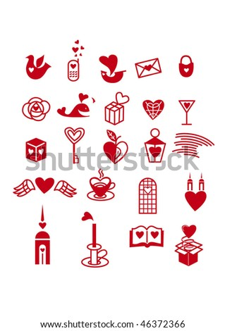 signs and icons of various themes - stock vector