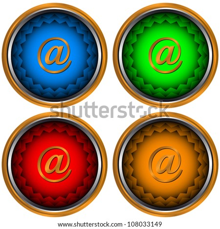 Signs email located on a white background