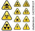 Signs of danger. Illustration on white background for design - stock photo