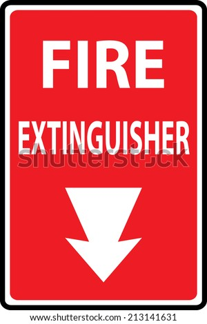 Signs of fire extinguishers sign. Vector Illustration - stock vector
