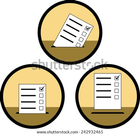signs of voting - stock vector