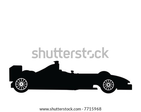 Silhouette a formula 1, vector illustration - stock vector