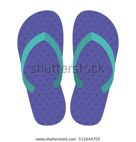 silhouette Beach flip-flops with purple dots