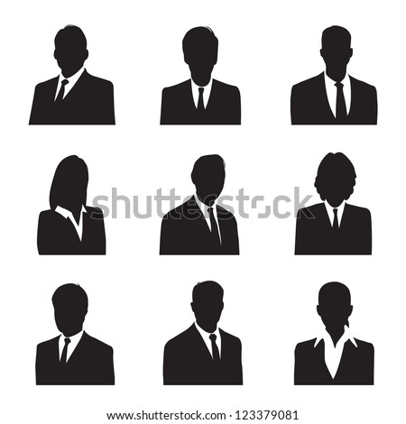 silhouette business - stock vector