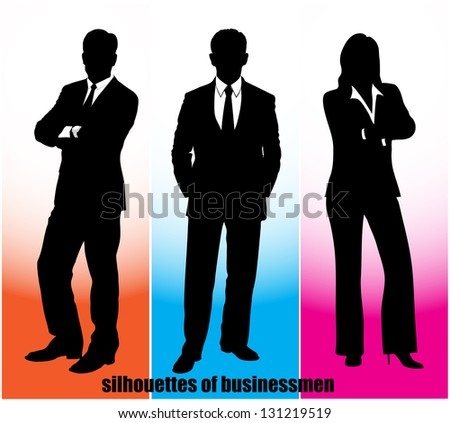 silhouette businessman - stock vector