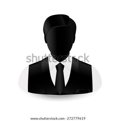 silhouette businessman change in a necktie and a sleeveless jacket - stock vector