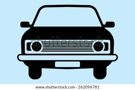 Silhouette car is not associated with any brand. Perfect for car advertising auto accessories. - stock vector