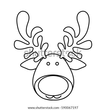 Kleurplaat Minnie Mouse Hoofd Rendier Hoofd Kleurplaat Kleurplaten Kerstman Rendieren En