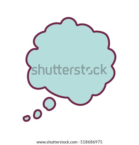silhouette cloud callout with cumulus background blue