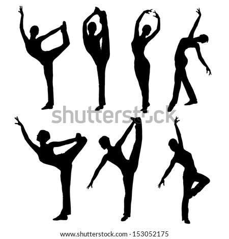 Silhouette dance vector images collection stock vector
