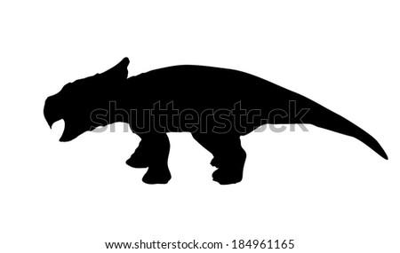 Silhouette Dinosaur. Black Vector Illustration. - stock vector