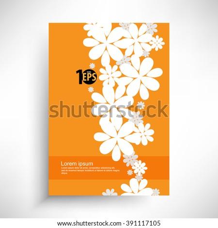 silhouette floral background conceptual design. eps10 vector  - stock vector