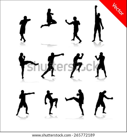 Silhouette for boxing