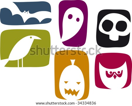 Silhouette Halloween Icon Set
