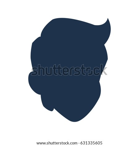 silhouette head boy young avatar