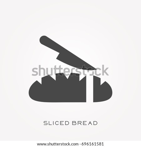 Silhouette icon sliced bread