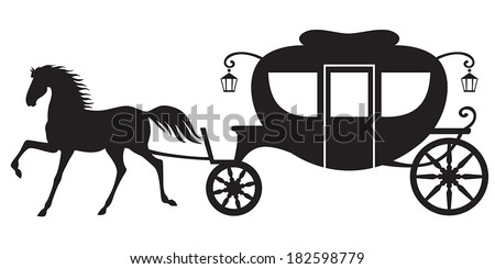 Horse Carriage Silhouette Silhouette Image Horse Drawn