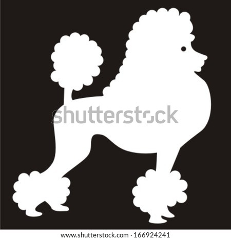 Poodle Head Silhouette Silhouette image of poodle dog