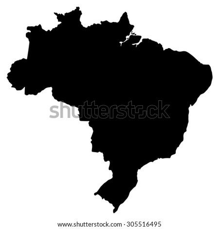Vector Map Brazil Brazil Stock Vector Shutterstock - South america map brazil