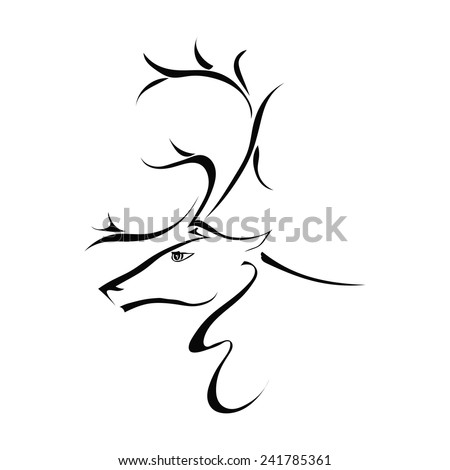 Clipart Rhinoceros 1 likewise Tribal Tattoos Upper Tribal Tattoo also Deer Head Silhouette as well 510393815 moreover Butterfly Coloring Print Outs. on deer head stencil free print
