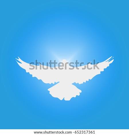 Holy Spirit Dove Silhouette