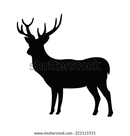 Silhouette of a hart - stock vector