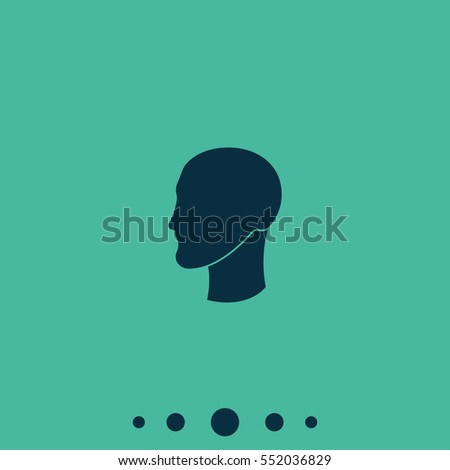 Silhouette of a head.