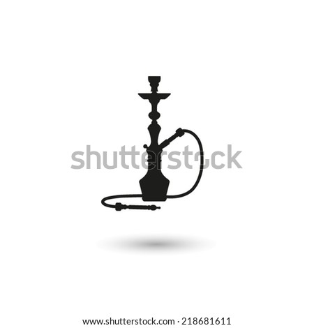 silhouette of a hookah - vector icon - stock vector