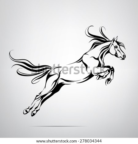 Silhouette horse jump stock vector 278034344 shutterstock for Horse jumping tattoos
