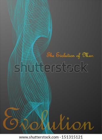 silhouette of a man. hologram