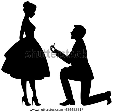 proposal silhouette man proposing to woman stock images royalty free images 9143