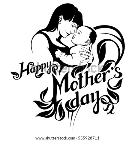 mothers day clip art black and white awesome graphic library